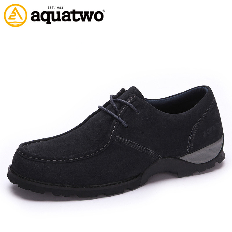 AQUATWO New Daily Casual Mens Shoes Oxford Style Trend Suede Leather Spring Autumn High Quality US5.5-10# Brand Casual Shoes<br><br>Aliexpress