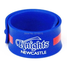 500pcs sports KNIGHTS NEWCASTL silicone slap bracelets rubber wristband free shipping by DHL express(China)