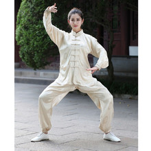 NEW 2015 Chinese Women Sportswear Silk Satin Tai Chi Suit Female Vintage Button Clothing XXS XS S M L XL XXL XXXL
