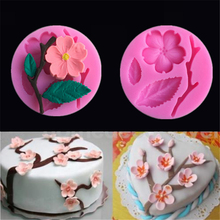 3D Food-grade Silicone Mold Peach Blossom Shapes Cake Chocolate Candy Jello Silicone Decorating Moulds Tools