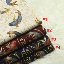 1 yard 100% cotton import soft breeze series Japanese gilt fabric with carp print handmade DIY bag mouth gold package cloth 874(China)