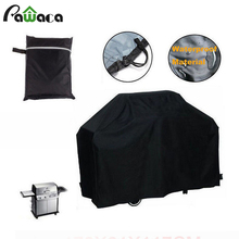 2 Size Black Waterproof Outdoor Barbecue Cover Sunscreen Dust Resistant High Quality Barbecue Hood BBQ Cover 2017 New Arrival
