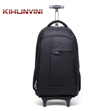 Travel Backpack On Wheel Trolley Bag High End Luxury Famous Designer Draw Bar Pack Men And Women Travelling Sac For Trip Mochila(China)