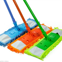 Colorful 360 Degree Rotatable Floor Mops Cleaner Handheld Sweeper Broom Extendable Microfibre Sweeper Home Cleaning Tool(China)