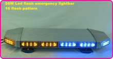 High intensity 73cm DC12V 56W Led car warning mini lightbar,emergency light bar for police ambulance fire truck,,warerproof