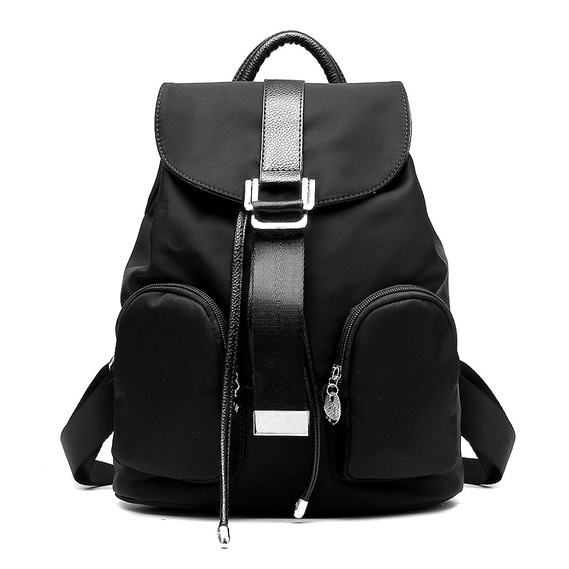 Black Female Women Zipper Fashion Small Backpack Young Girl Casual Shoulder Bag Lady Softback Solid Hand Bag<br>