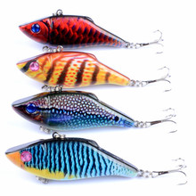 4Pcs/lot fishing lure 7cm/11g wobbler Tropical Bionic leurre dur Full swimming floor isca artificial Colorful pigment leurre vib(China)