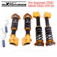 Coilovers for Subaru Impreza WRX GDA GDB 02-06 STi 04 Adjustable Height Camber Coilover Kit Shock Coil Struts Suspension Damper