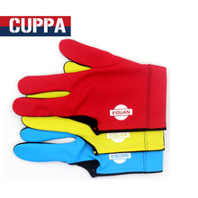 New Cuppa Billiard Glove Three Fingers Left Hand Red/Blue/Yellow Colors Gloves Billiard Accessories China 2017(China)