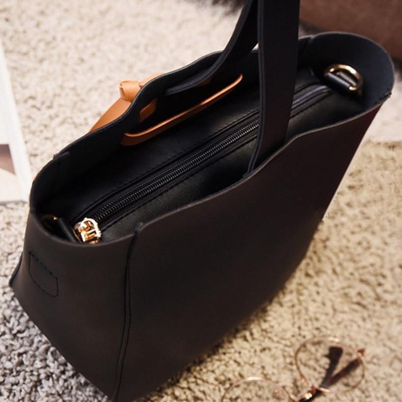 One set handbag 2017 Fall Fashion New Female bags High quality PU leather Women Simple wild shoulder Messenger bag Mini Picture<br>