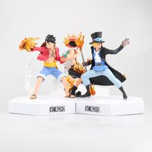 One Piece Figure Ace Luffy Sabo FIre Fist Three Brothers One Piece Action Figure PVC Cartoon Figurine One Piece Anime Toy(China)