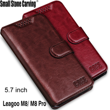 For Leagoo M8 Case Luxury Phone Protective Mobile Caas Case For Leagoo M8 Pro Book Flip Cover Wallet PU Leather Bags 5.7""