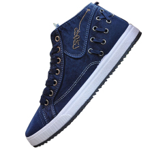 2016 Fashion Men Casual Shoes Denim Canvas Shoes Lace Up Breathable Men Shoes Casual Zapatos Hombre