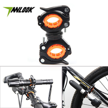 TANLOOK Rotate Bicycle Light Holder 2 Color Cycling LED Flashlight Lamp Handlebar Holder MTB Bike Pump Holder Clip Accessories(China)
