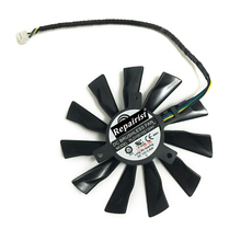 Buy GPU Cooler 95mm 4 Pin PLD10010S12HH Graphics Card Fan Cooler Radeon MSI GTX 770 760 R9 280X 290X Replacement for $9.29 in AliExpress store