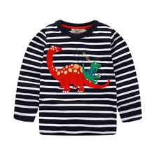 1-8 years Boys T-shirt Kids Tees Baby Boy brand t shirts Children tees Long Sleeve 100% Cotton cardigan sweater jacket shirts(China)