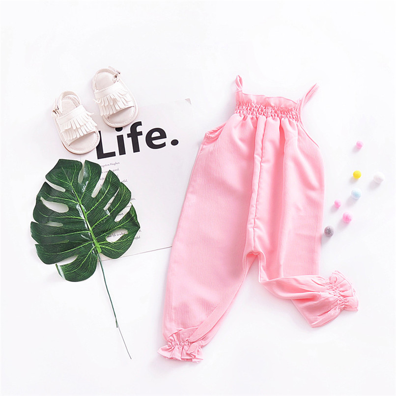 Toddler Kids Baby Girls Strap Romper Jumpsuit Harem Trousers Summer Clothes NDA84L09 (2)