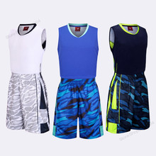 Adsmoney Men Basketball Sets Jersey Breathable With Quick Dry Basketball Shorts Suits Student Training Clothing stripe shorts(China)