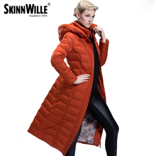 2016 winter long design down coat female slim over-the-knee ultra long lengthen thickening with a hood plus size