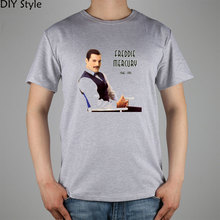 Queen band Mr FREDDIE MERCURY T-shirt cotton Lycra top 3033 Fashion Brand t shirt men new DIY Style high quality