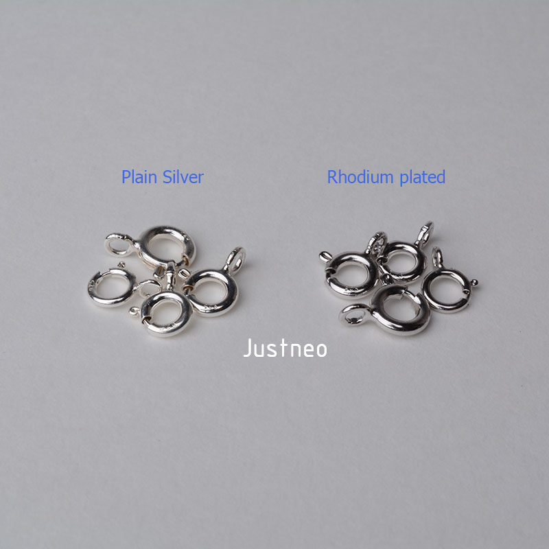Sterling Silver Spring Ring Clasp (4)