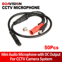 50Pcs / 100Pcs Audio Pick Up Audio Monitor MINI MICROPHONE CCTV SECURITY RCA OUTPUT CCTV Microphone