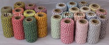 2pcs/lot 33 kinds color cotton bakers twine 20m/spool divine twine cotton twine used in packing(China)