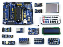 PIC Development Board PIC16F877A PIC16F877A-I/P 8-bit RISC PIC Development Board +14 Accessory Module Kits=Open16F877A Package B