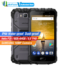 Ulefone Armor 2 IP68 Waterproof Mobile Phone 5.0 Inch FHD 6GB RAM 64GB ROM Helio P25 Octa Core 2.6Ghz NFC 4700mAh Dustproof 4G(China)