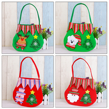 2016 Cute Cartoon Santa Claus Elk Creative Festival Party Christmas Cloth Bags Crafts kids Children Candy Holder Storage Bags