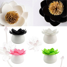 Free shipping Popular Lotus Cotton swab box lotus cotton bud holder base room decorate / Lotus Toothpicks holder Toothpick case