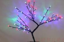 high 45cm Led cherry flower tree led light tree led tree light lantern outdoor lamp decoration lamp(China)