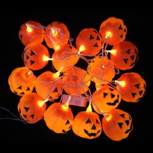 3M Halloween Decoration Party Supplies Pumpkin Lamp Skeleton Hanging Led Flashing String Light Festival Decoration