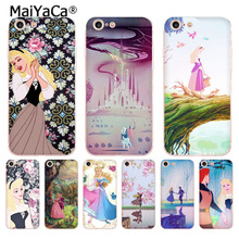 Buy MaiYaCa Sleeping Beauty DANCING transparent soft tpu phone case cover iPhone X 6 6s 7 7plus 8 8Plus 4 4S 5 5S 5C case coque for $1.35 in AliExpress store