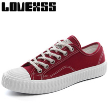 LOVEXSS White Color Canvas Shoes For Men Breathable Athletic Skateboarding Shoes For Men Go shopping Sport Shoes Men's Sneakers(China)