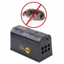 2017 Home Use Electrocute Electronic Rat Trap Mice Mouse Rodent Killer Electric Shock EU Plug Adapter High Voltage New Arrival(China)