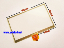 "10pcs/lot New 4.3"" inch 4 wire Resistance Touch panel for TomTom XL 4ET03 Touch screen digitizer panel replacement Free shipping"