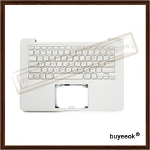 "Original Used White Fair Palm Rest Top Case With US Keyboard Topcase for MacBook 13"" A1342 2009 2010 Tested Well"