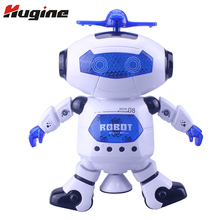 Intelligent Kids Dancing Toys Space Dancing Robots Electronic Walking Toys With Music Light Effect Gift For Children(China)