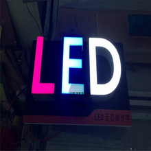 Factory Outlet Custom Outdoor Acrylic or stainless steel signage letter led(China)