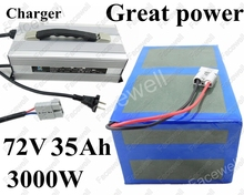 Great Power 72v 35Ah motor triciclo 3000w 1000w electric bike kit battery pack With BMS for tricycle bikes wheelchair +Charger