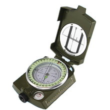 Military Army Metal Prismatic Sighting Compass High Accuracy Waterproof Compass with Pouch Outdoor Hiking Camping Climbing(China)