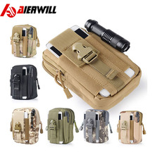for iPhone 7 7Plus Outdoor Camping Climbing Bag Tactical Military Molle Hip Waist Belt Wallet Pouch Purse Phone Case bag(China)