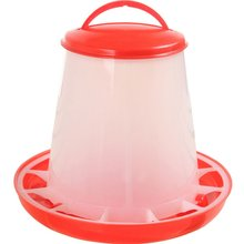 Red 1.5kg Plastic Food Fodder Automatic Feeder Chicken Hen Chook Poultry Drinker Set Farm Animals Feeding Raising Tools Helper