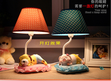 Lovely cartoon creative desk lamp of bedroom the head of a bed bud silk adornment personality sweet birthday present