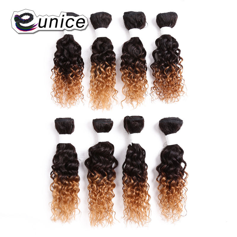 Afro Kinky Curly Hair Weave Bundles 100% Nature Color Human curly Hair  (4)