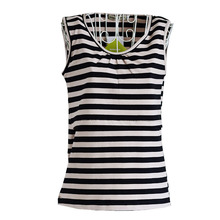 Nursing Top Feeding Vest Clothes For Pregnant Women Tee Striped Sleeveless Maternity Clothing Pregnancy Breastfeeding Tank New(China)