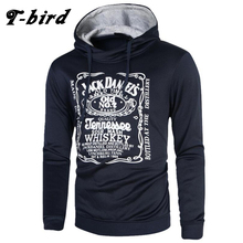 T-bird hoodie Men Letter 3D printing Hip Hop Sweatshirt fashion Mens hoodie 2017 brand Winter Cotton pullover male hoody Moleton(China)