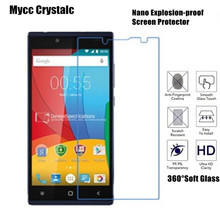 mycc crystalc Soft Glass film Nano Explosion-proof Screen Protector for Prestigio Grace Q5(China)