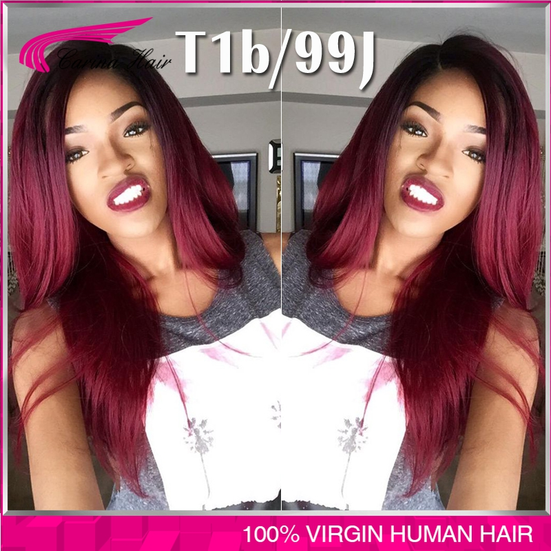 6A Front Lace Wigs Human Hair 1b Root Red Hair With Baby Hair Bleached Knots MIddle Parting Brazilian Loose wave free shipping<br><br>Aliexpress